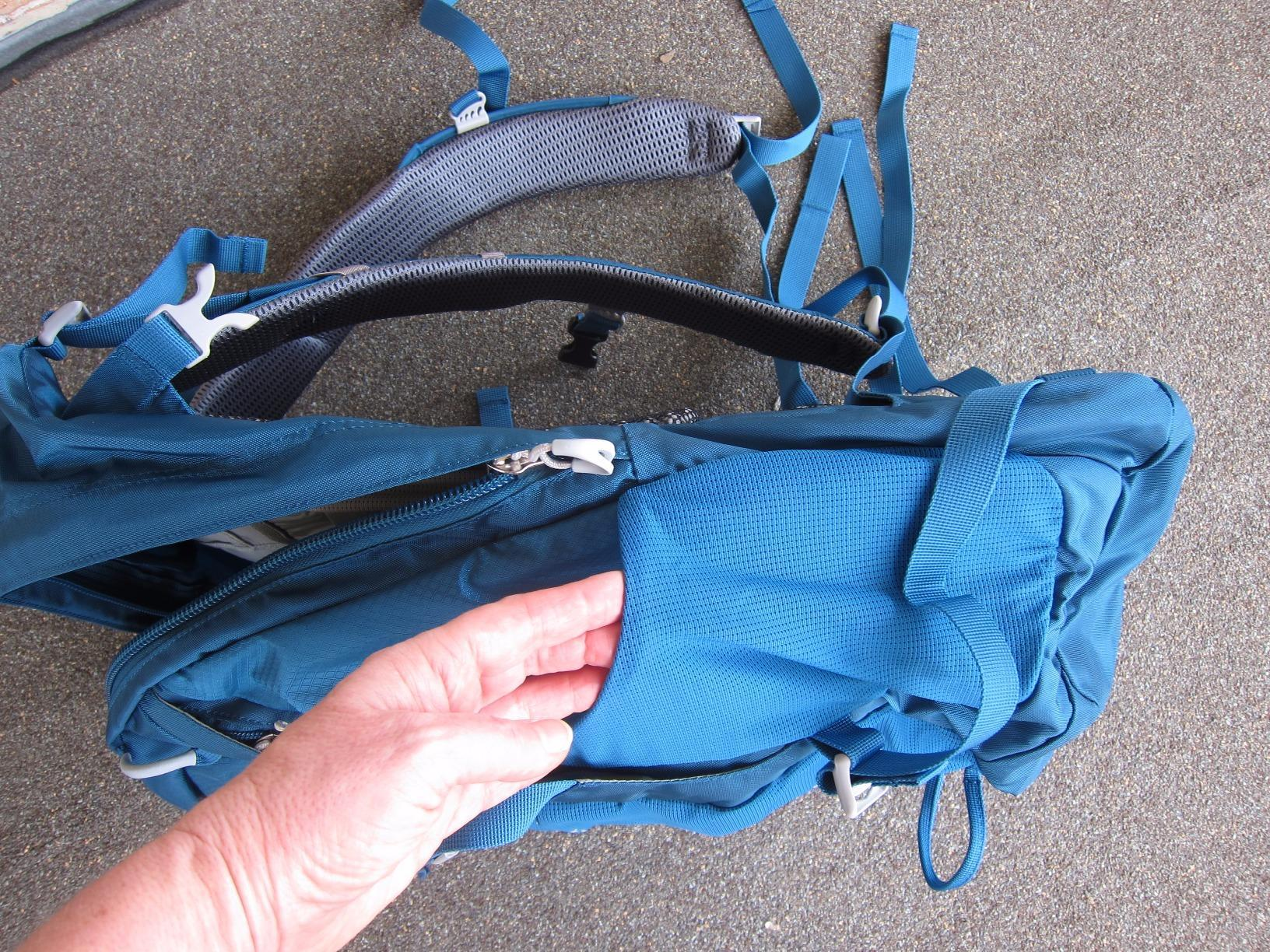 Inner View of Osprey Daypack