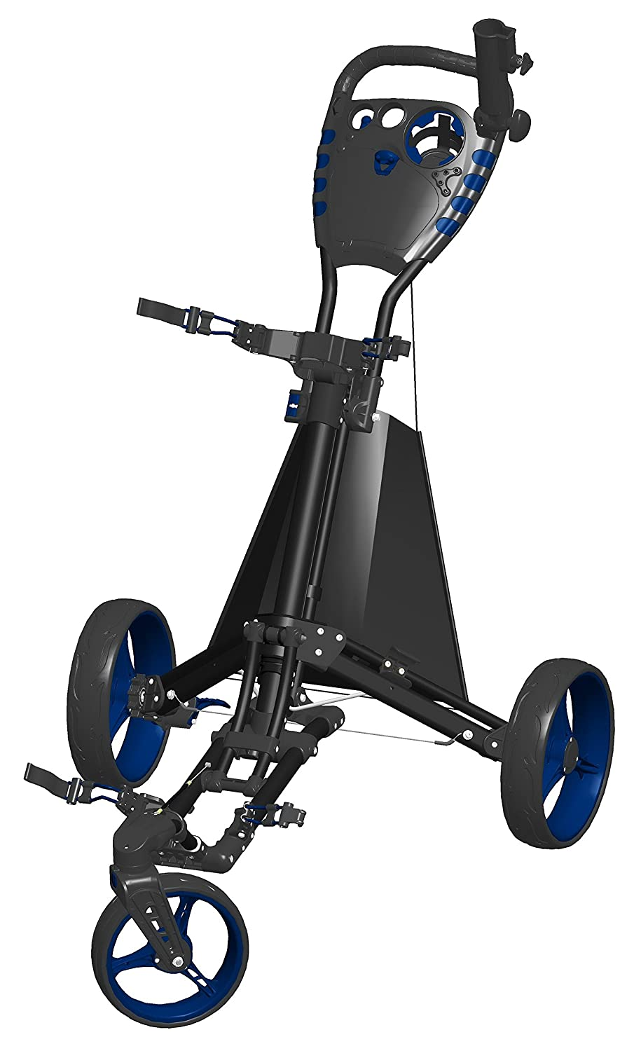 Spin It Golf Products Easy Drive Golf Push Cart, Black Blue