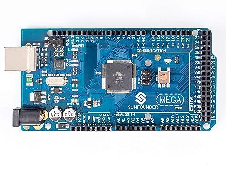 Amazon.com: SunFounder Mega 2560 R3 ATmega2560 – 16 AU placa ...