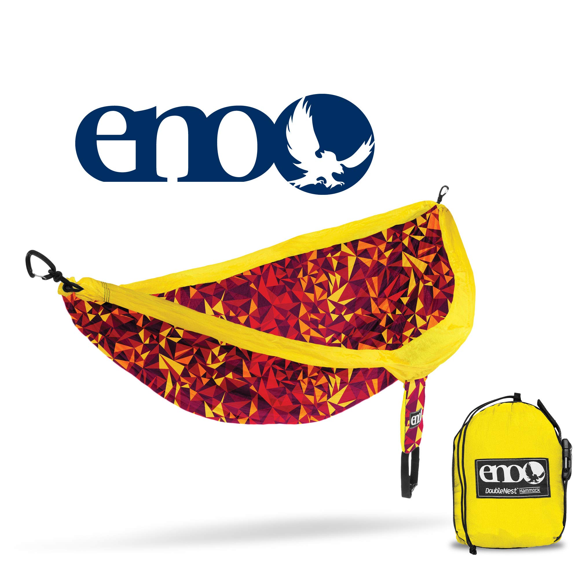 ENO - Eagles Nest Outfitters DoubleNest Print Lightweight Camping Hammock, 1 to 2 Person, Geo/Red by ENO