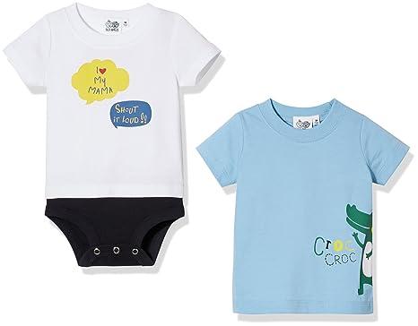 a0c0dffb61c7 Amazon.com  Silly Apples Baby Boy 2-Piece Short-Sleeve I Love Mom ...