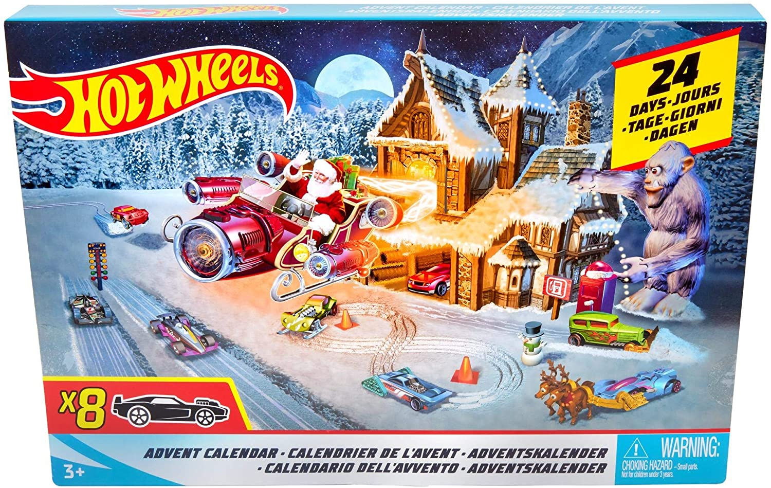 Hot Wheels Calendario De Adviento, con coches de juguete y ...
