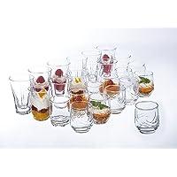 Réception 1618043 Lot de 24 Verrines pour Amuse Bouche Verre, Transparent, 25 x 19 x 16,5 cm