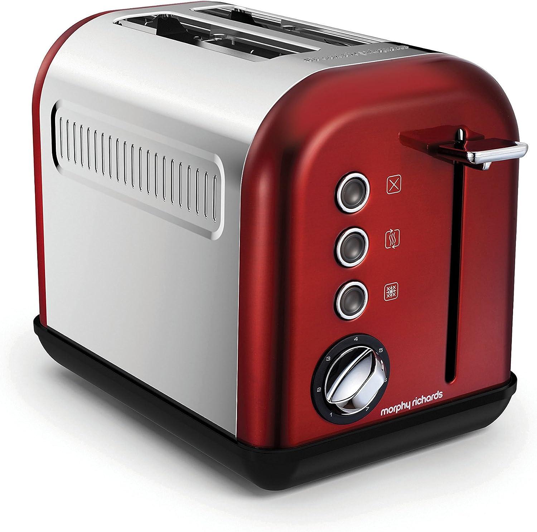 2 fentes Large Fente Grille-pain rapide Quick Toast de réchauffage décongélation Compartiment à miettes Rouge
