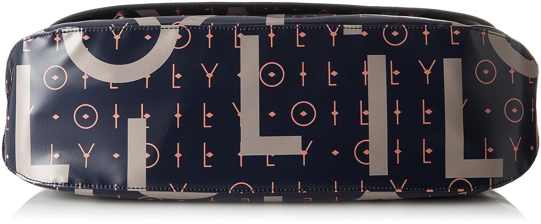 Blau 16x30x44 cm Oilily Damen Lori Letters Diaperbag Lhf Umh/ängetasche Dark Blue