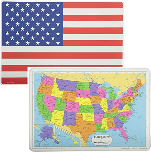 PAINLESS LEARNING PLACEMATS-American Flag-Placemat