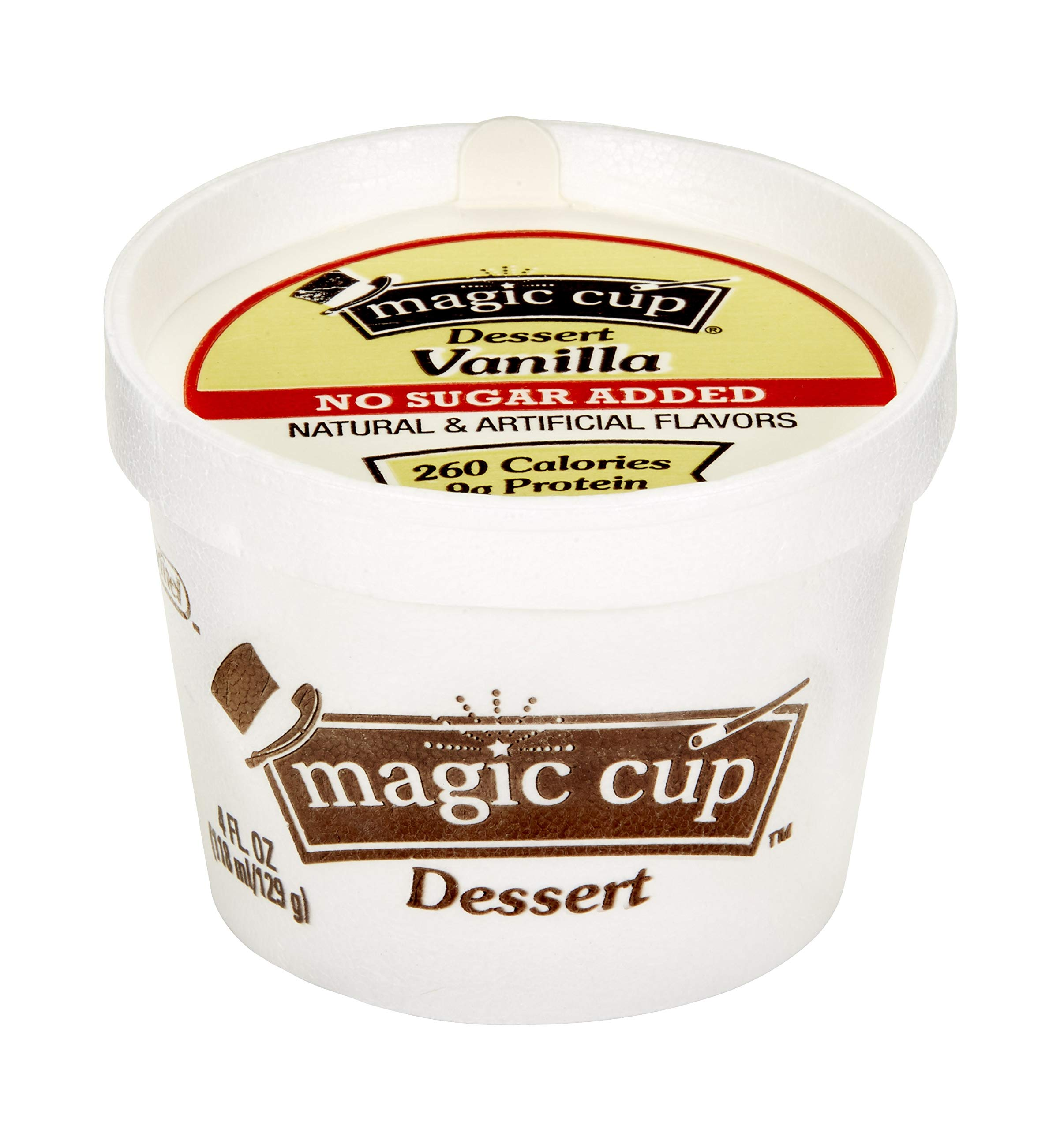 Magic Cup No Sugar Added Vanilla 4 oz-Pack of 48 by Hormel Healthlabs (Image #1)