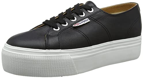 Superga Womens 2790 Nappaleaw Trainers Black BlackWhite 4 UK 37