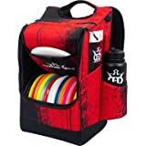 Dynamic Discs Sniper Disc Golf Backpack | 16 Disc Storage in Main Compartment | Deep Top Zippered Pocket to Hold Additional Disc Golf Accessories | Two Water Bottle Holders