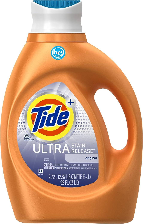 Tide Ultra Stain Release Liquid Laundry Detergent, Original, 48 Loads 92 fl oz