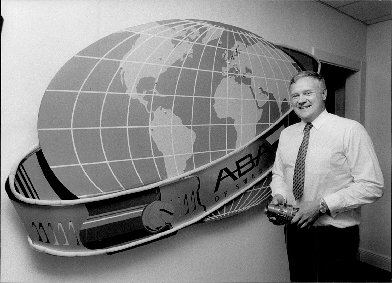 Vintage photo of Nils Bergström, CEO and principal owner of ABA of