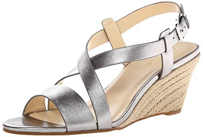 Cole Haan Women's Taylor Wedge Sandal,Armor Metallic,5 ...