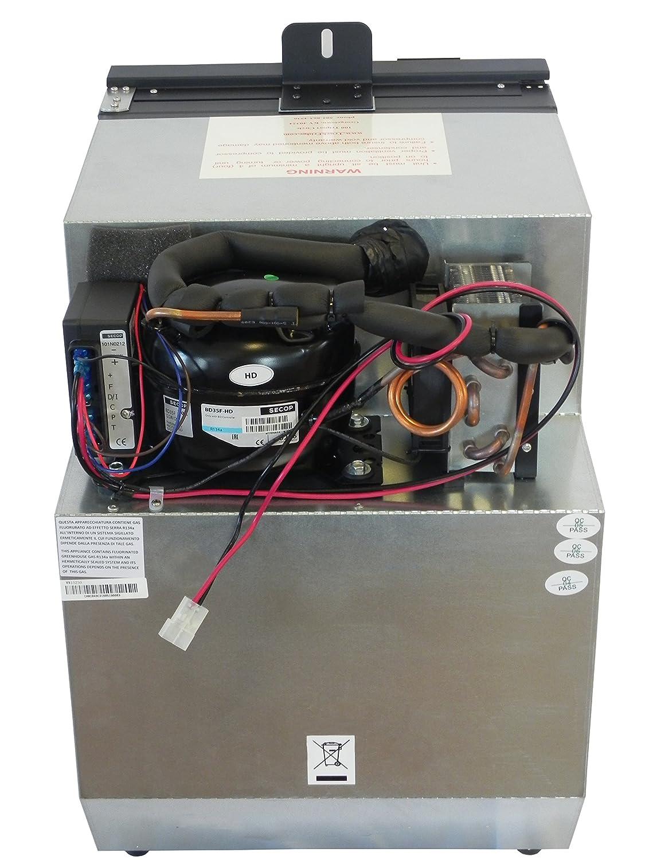TruckFridge TF49CAS-R Black Replacement Refrigerator(1 8 cu ft 12vDC for  OEM Freightliner Cascadia )