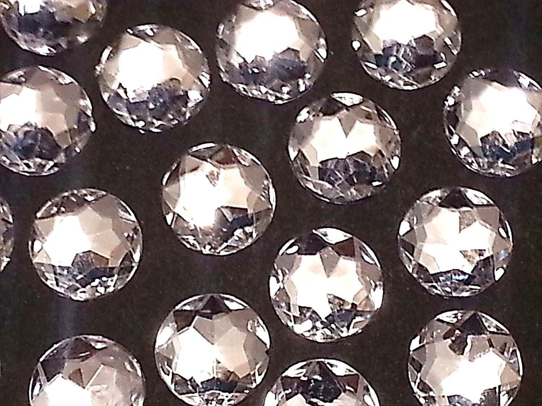 CraftbuddyUS 20pcs 25mm AB CLEAR Diamond Round Resin Diamante Gem