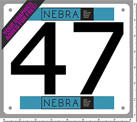 BlueFootedTiming Custom Race Numbers Official Competitor tyvek bib Numbers  - Set of 100, Any Series Between 1 and 10,000 - add Your Free Color Logo or