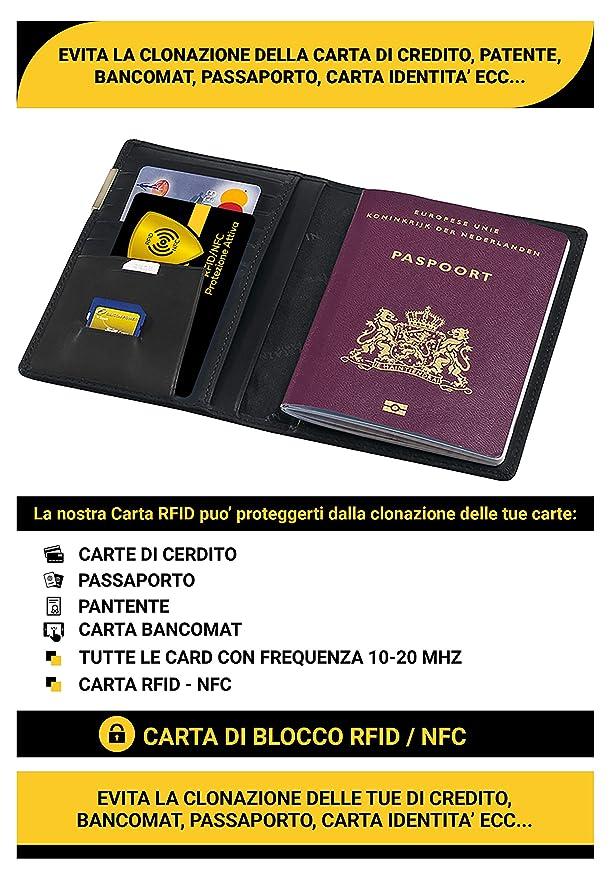 ID del titolare della carta di credito RFID Blocco in Alluminio Custodia portafoglio di sicurezza di scansione