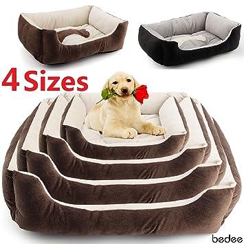 bedee Gran Lujo Lavable Mascota Perro Cachorro Gato Cama cojín Suave Mat Caliente Cesta cómodo S Café: Amazon.es: Productos para mascotas