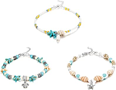 Beach Coral Pearls Beaded Ankle,Bridesmaids Starfish Charm Turquoise Beads Nautical Starfish Anklet,Turquoise Coral Starfish Anklet