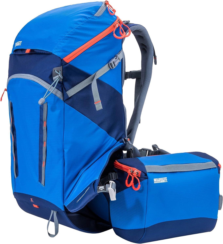 "MindShift rotation180deg. Horizon 34L Backpack with Beltpack for DSLR Camera, Lenses, Flashes, 13"" Laptop and 10"" Tablet, Tahoe Blue"