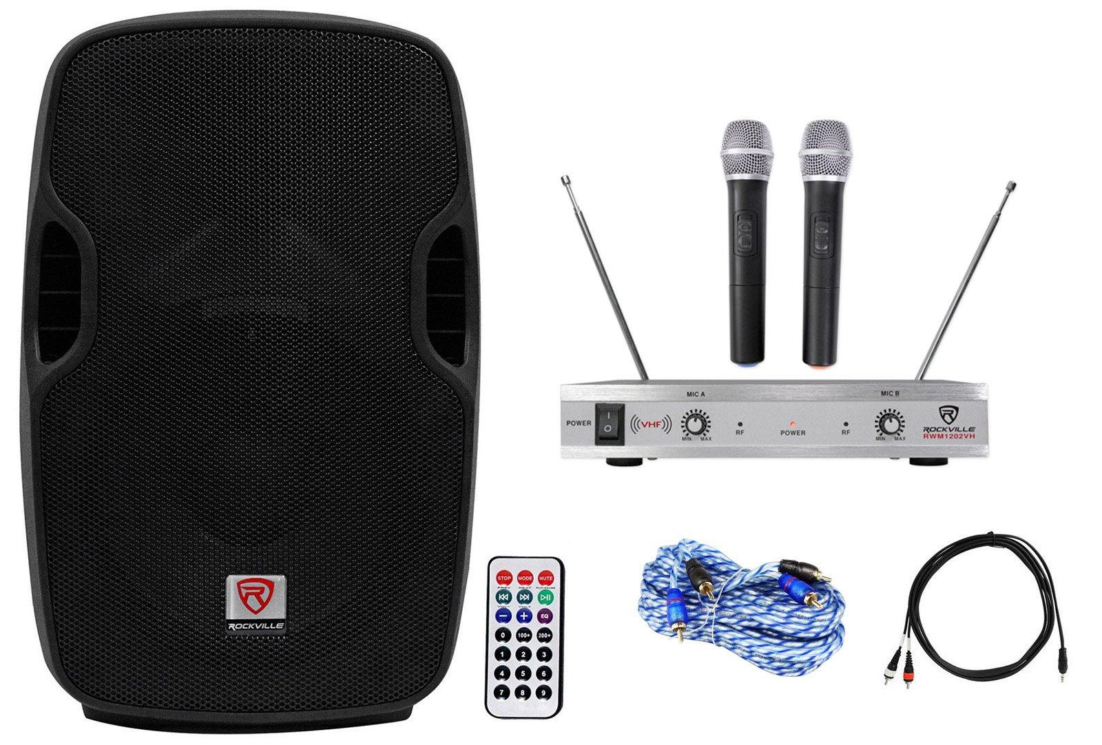 Rockville Powered 10'' Karaoke Pro Machine/System 4 ipad/iphone/Android/Laptop/TV