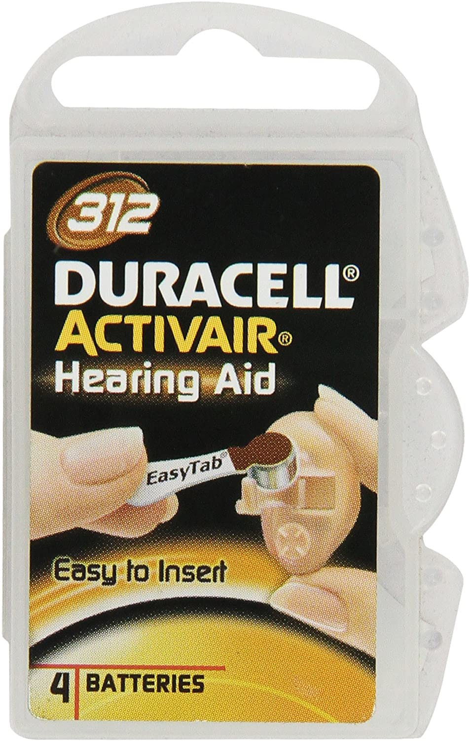 Duracell Activair Easy Tab Size 312 (40 batteries)