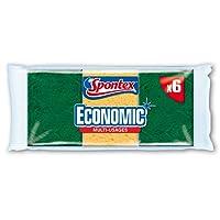 Spontex  Eponges Combinés Grattantes  6 Eponges Economic  Lot de 2