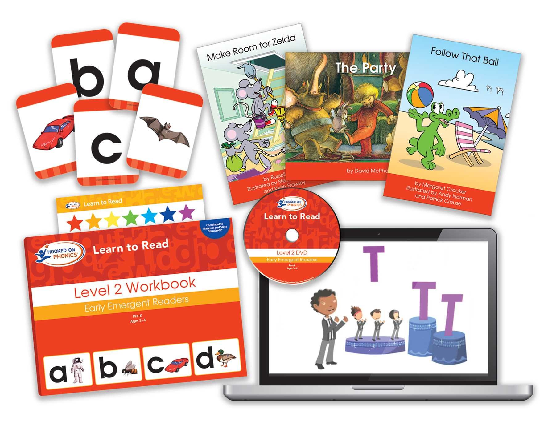 Amazon.com: Hooked on Phonics Learn to Read - Level 2: Early Emergent  Readers (Pre-K | Ages 3-4) (9781940384115): Hooked on Phonics: Books