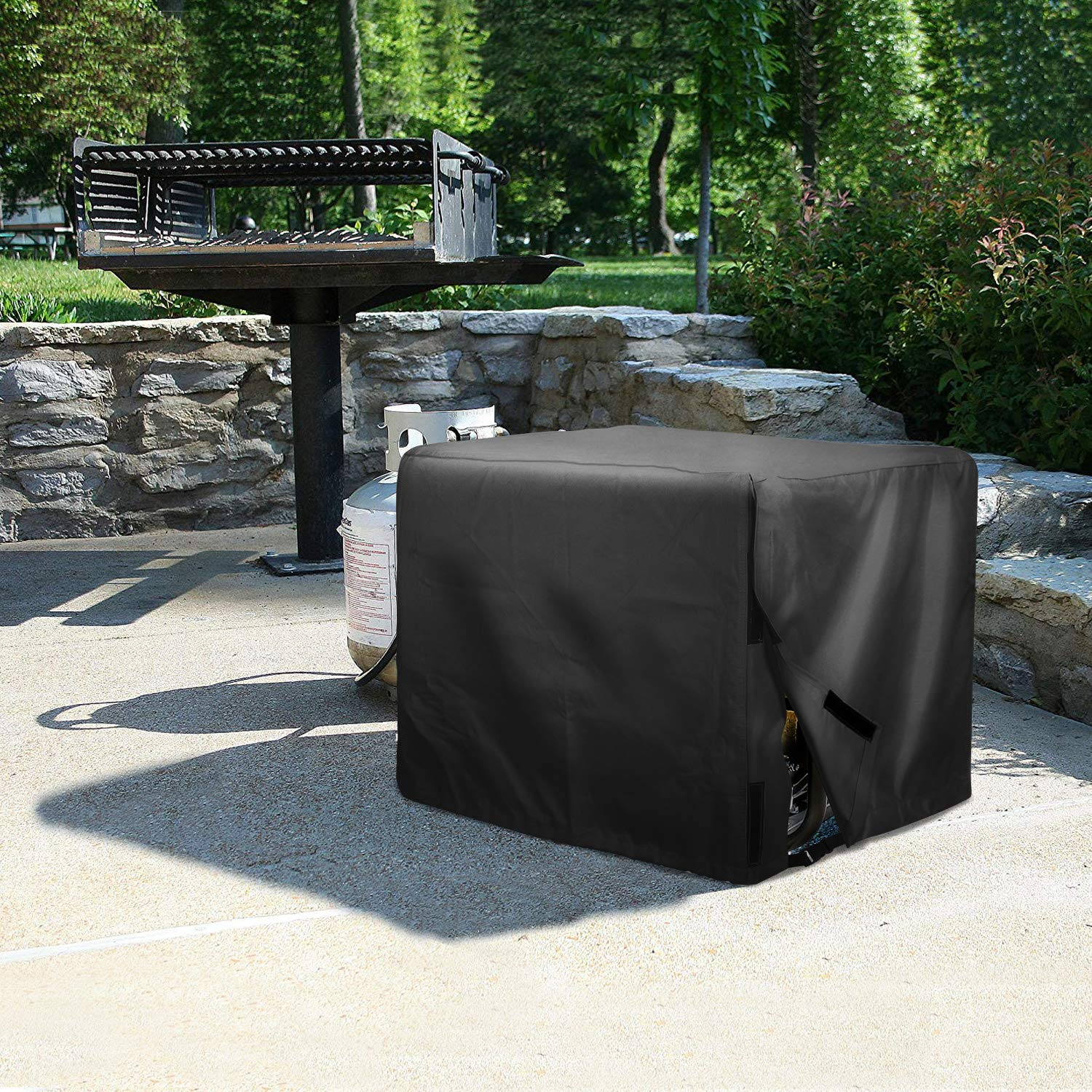 Leader Accessories Durable Universal Waterproof Generator Cover (31'' Lx 29'' Wx 28'' H, Black) by Leader Accessories (Image #6)