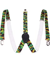 Enimay Plain Plaid Pattern Great Quality Unisex Suspenders (Many Colors & Styles Available)