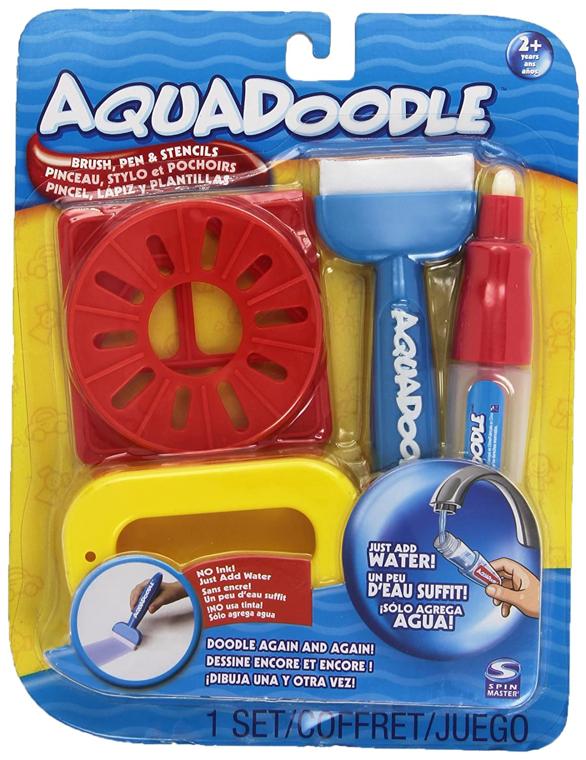 Aquadoodle Brush, pen, and stencils with bonus spill-proof cup 20032404