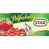 Star - Polpabella, Polposi cubetti, Pomodoro 100% italiano - 8 confezioni da 3 pezzi da 400 g [24 pezzi, 9600 g]
