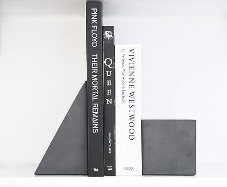 anaan Partner Sujetalibros originales Hormigon Concreto Tope para Libros Oficina o Hogar estantería Decoracion estilo Industrial