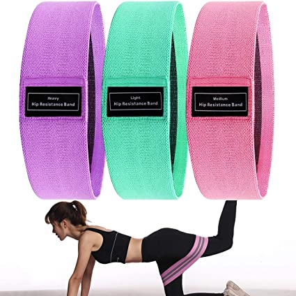 Hip Circle Fabric Non Slip Hip Resistance Bands Elastic for Butt Glute Workout
