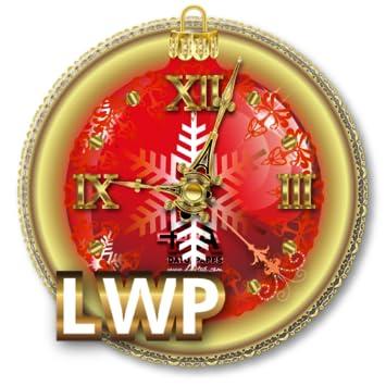 Xmas Clock LWP HD Holiday Live Wallpaper And