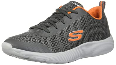 Skechers Kids Boys' DYNA LITE SPEEDFLEET Sneaker, Charcoal