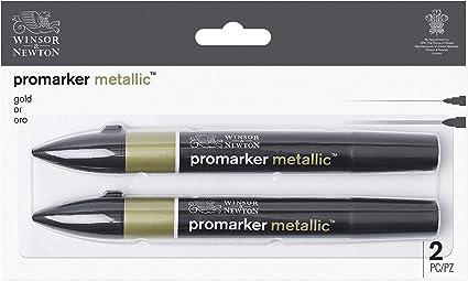 Winsor & Newton - Set de Rotuladores ProMarker Metallic, 2 ...