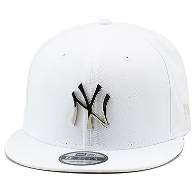 Amazon.com  New Era 9fifty New York Yankees Snapback Hat Cap White ... f8ff033aeef