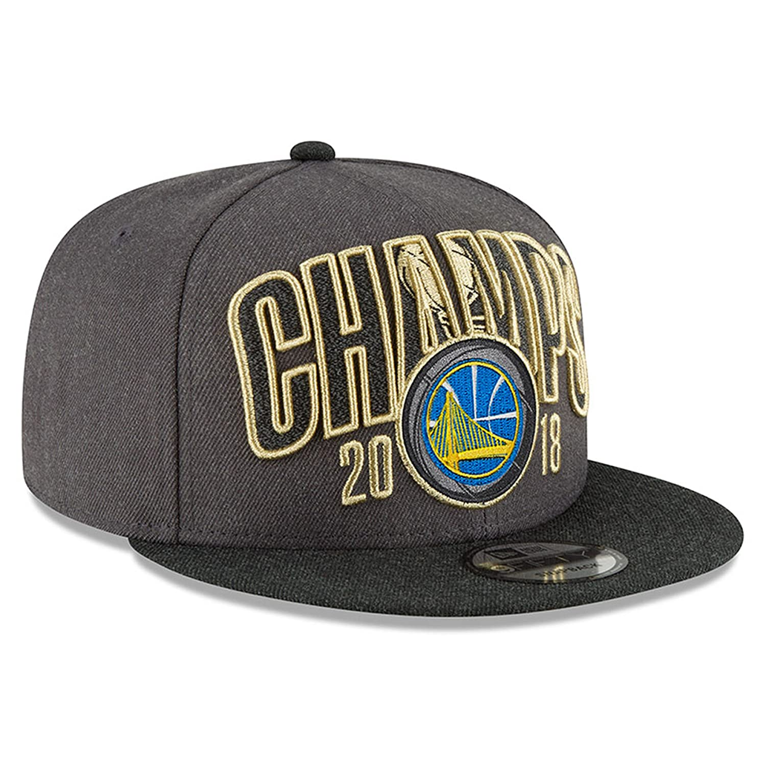 2764efbe7d801 Amazon.com   Official Warriors 2018 Finals Champions Locker Room Snapback  Adjustable Hat - Charcoal   Sports   Outdoors