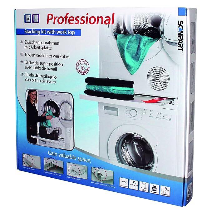 ScanPart - Marco para apilar lavadora y secadora con bandeja de ...