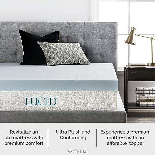 Lucid4 inch gel memory foam mattress topper review
