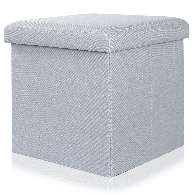 Lifewit Pouf Cassapanca Pieghevole con Contenitore di 125 Litri Sedile Morbido Carico di 300 kg (38x38x38cm)