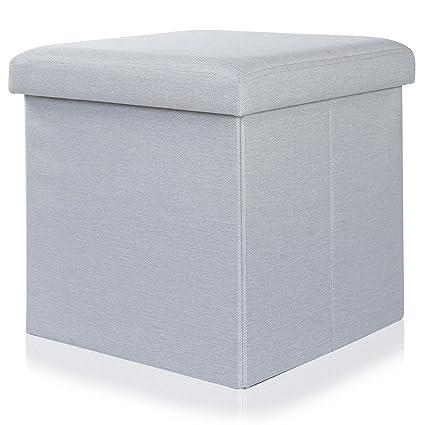 Lifewit Banco Taburete de Cubo de Almacenamiento Otomano Baúl ...