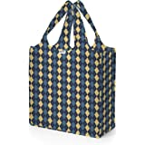 Rume Macro Tote Reusable Grocery Bag - Machine washable, Water-resistant, Lightweight, Holds up to 50 lbs