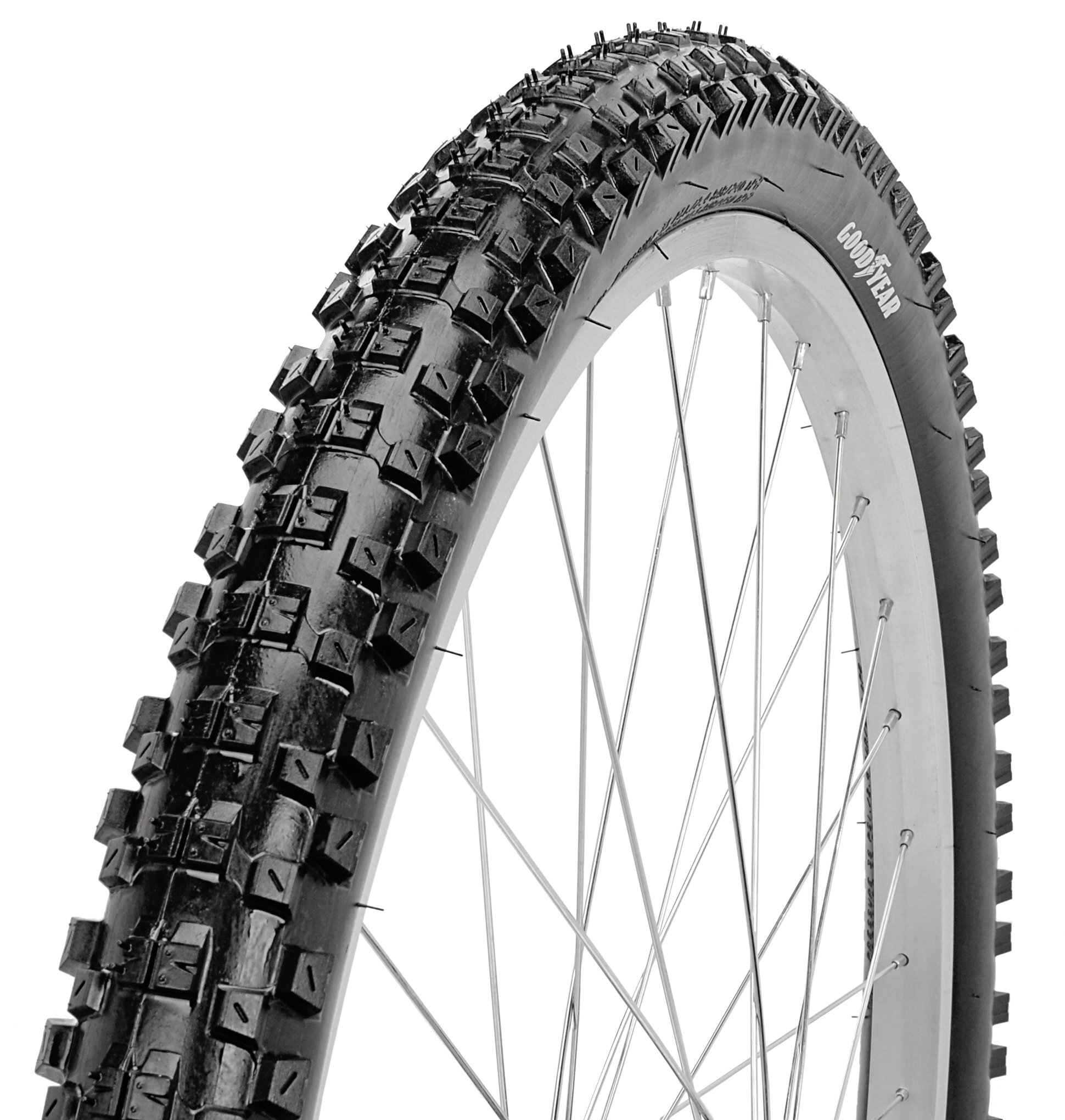 Goodyear Folding Bead Mountain Bike Tire, 26'' x 2.1'', Black