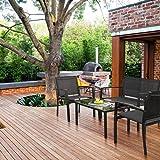 Devoko 4 Pieces Patio Furniture Set Outdoor