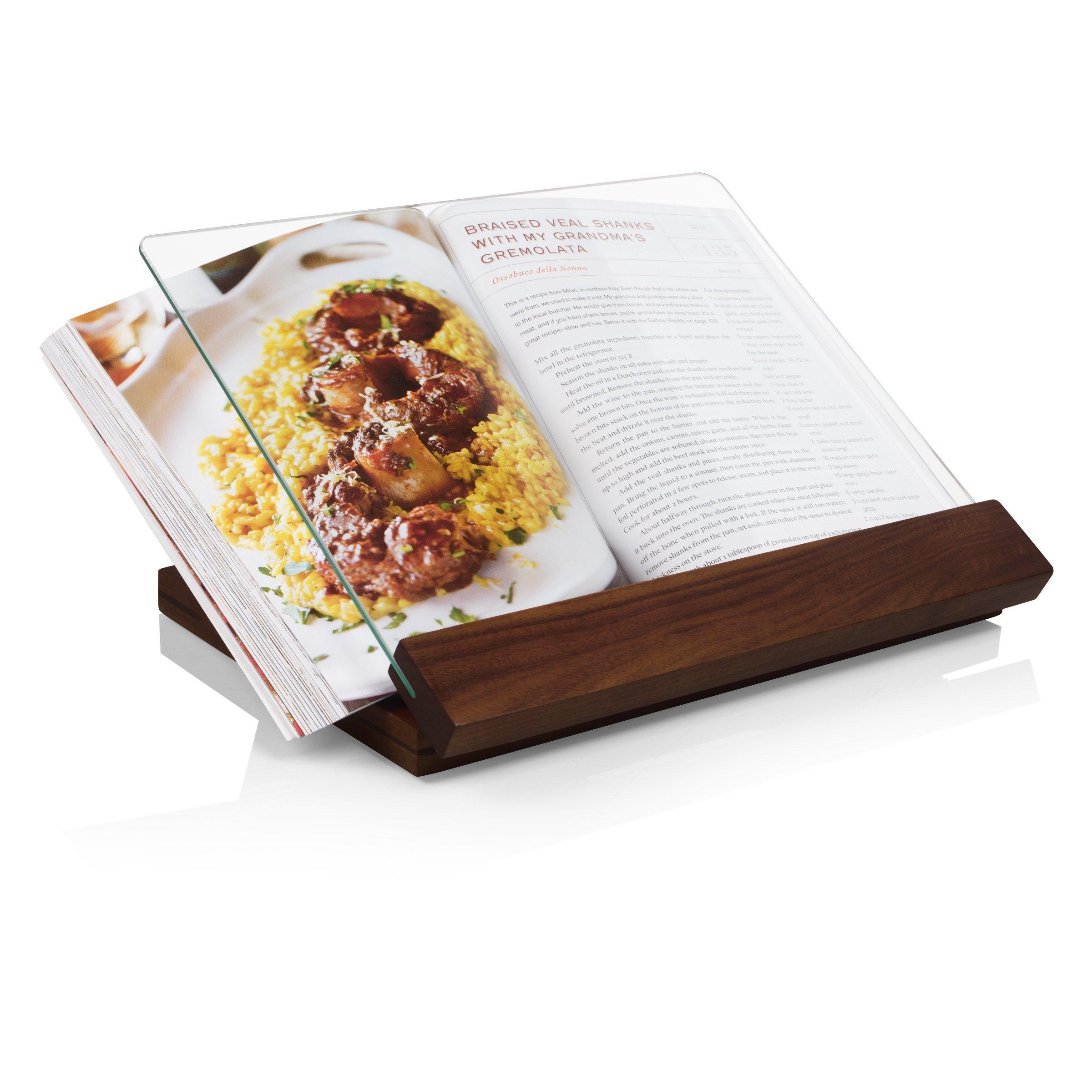 TOSCANA - a Picnic Time Brand Fabio Viviani Prodigio Acacia Wood Stand with Fabio's Signed Cookbook by TOSCANA - a Picnic Time brand