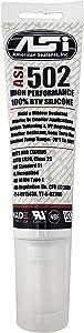 ASI 502 White Food Grade 100% RTV Silicone Sealant - 2.8 Oz Squeeze Tube
