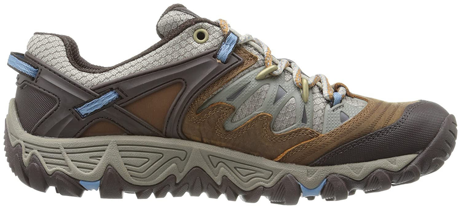 Merrell Women's All Out Blaze Hiking Shoe Sugar/Blue B00KZJ28ZQ 8.5 B(M) US|Brown Sugar/Blue Shoe Heaven 0c96d4