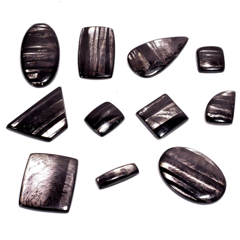 Natural Black Hypersthene Gemstone Wholesale Cabochons Lot, Jewelry Making Loose Gemstone, Polished Home Decor Specimen, DIY, Wire Wrapping, Reiki, Healing Crystals, Bulk Gemstone Deal