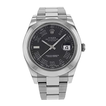 Amazon.com: Rolex Datejust II 116300 - Reloj automático de ...